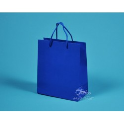 Papírová taška KAROLÍNA 20x10x23 modrá
