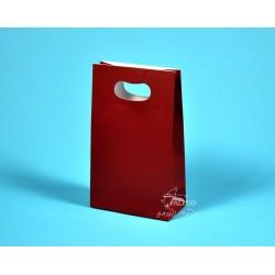 Papírové tašky Mirek 16x8x26 vínové matné lamino