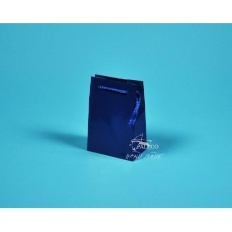 Papírová taška GABRA 11x6,5x16 modrá
