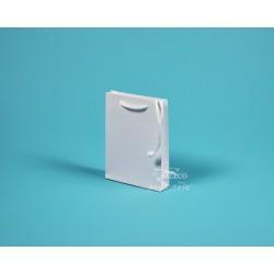 Papírové tašky DENISA 13x3,5x17,5  bílý ofset