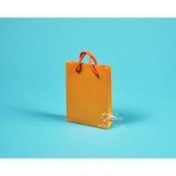 Papírová taška DENISA 13x3,5x17,5 graf.papír oranžová