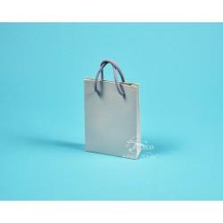 papírová taška DENISA 13x3,5x17,5 graf.papír šedá