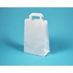 papírové tašky EKO 22x11x31 bílá s plochým uchem