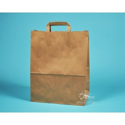 papírová taška hnědá EKO 32x17x41 vysoká gramáž,  hnědý kraft