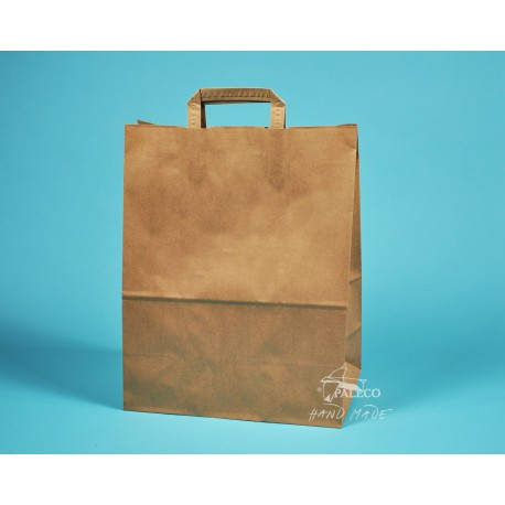 papírová taška EKO 32x17x41 hnědý kraft 90g