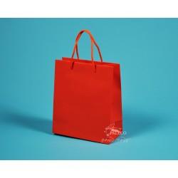 papírová taška KAROLÍNA 20x10x23 oranžová