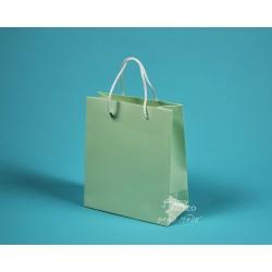 papírová taška KAROLÍNA 20x10x23 světle zelená