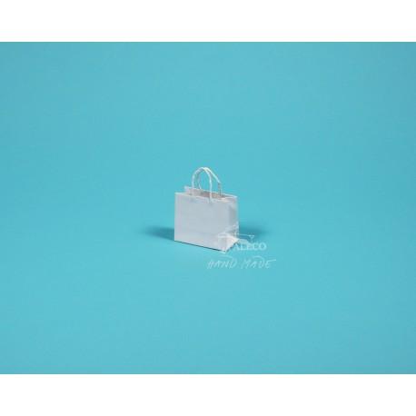 papírová taška Málinka 7,5 4 x 6,5 140g bílý ofset