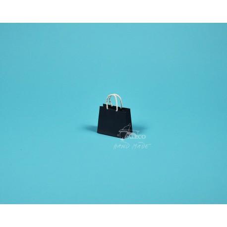 papírová taška Málinka 7,5 4 x 6,5 140g modrá ofset