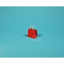 papírová taška Málinka 7,5 x 4 x 6,5  150g červená křída lesklé lamino