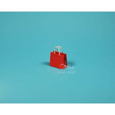 papírová taška na šperky Málinka 7,5 x 4 x 6,5  150g červená křída lesklé lamino