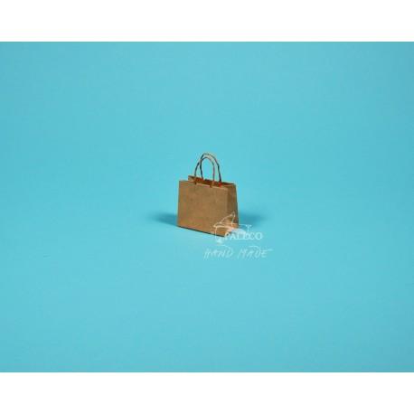 papírová taška Málinka 7,5 x 4 x 6,5 90g  hnědý sulfát