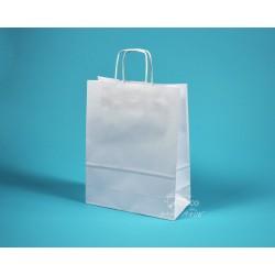 papírová taška TWIST 18x7x24 bílá