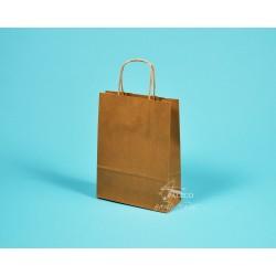 papírové tašky TWIST 18x7x24 hnědý recyklovaný kraft 110g