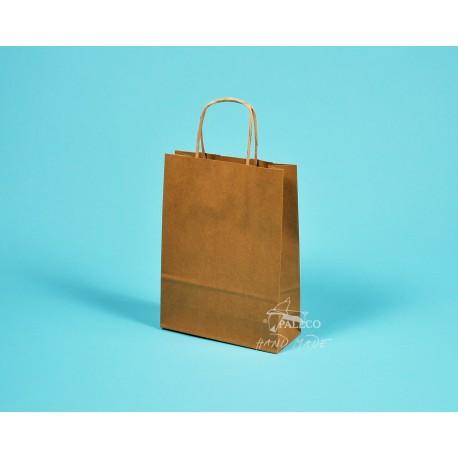 papírová taška TWIST 18x7x24 hnědý kraft