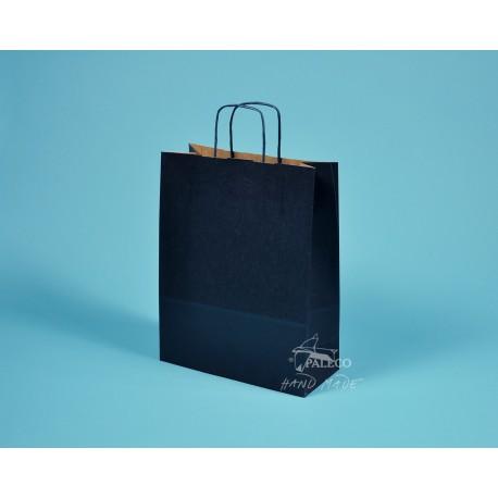 papírová taška TWIST 18x7x24 tmavomodrý sulfát