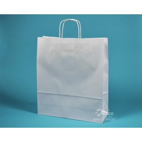 papírová taška TWIST 36x12x41 bělený kraft 110g