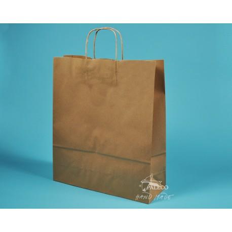 papírová taška TWIST 36x12x41 hnědý recyklovaný