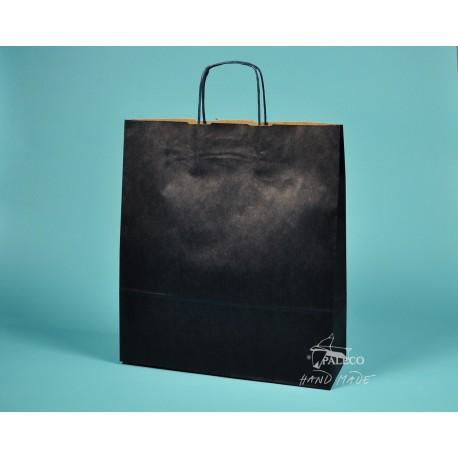 papírová taška TWIST 36x12x41 tmavomodrý sulfát 110g