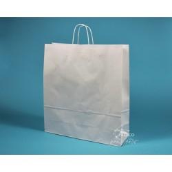 papírová taška TWIST 46x16x49 bělený kraft 110g