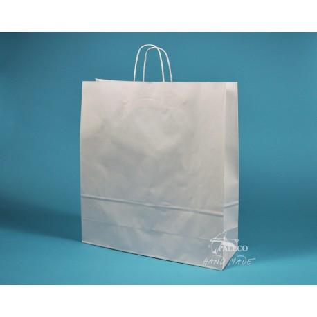papírová taška TWIST 46x16x49 bělený kraft
