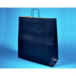 papírová taška  s krouceným držadlem TWIST 46x16x49 tmavomodrý sulfát 110g