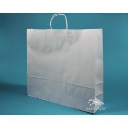 papírové tašky TWIST 54x15x49 bělený kraft kroucené držadlo