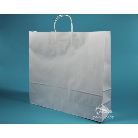papírová taška TWIST 54x15x49 bělený kraft