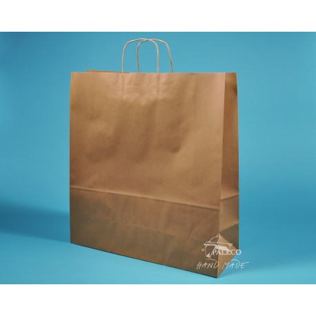 papírová taška TWIST 54x15x49 hnědý recyklovaný 110g