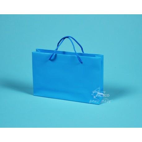 papírová taška ZITA 25x6x17 modrozelená