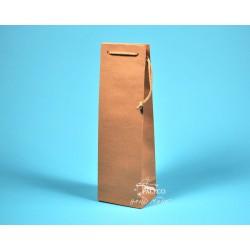 papírová taška ALEX (na víno) 11,5x9x37 hnědý recyklovaný