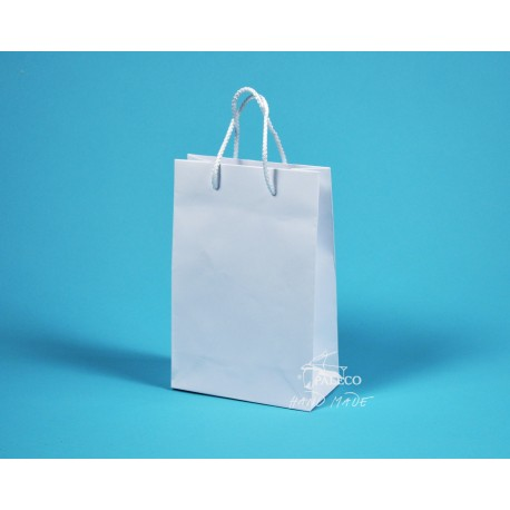 papírová taška JUSTÝNA 16x8x24 bílá ofset