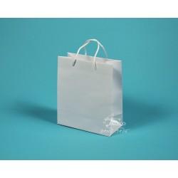 papírová taška KAROLÍNA 20x10x23 bílá ofset