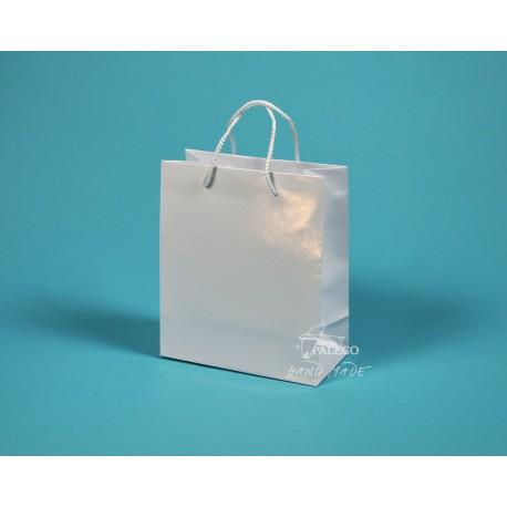 papírová taška KAROLÍNA 20x10x23 bílá lamino
