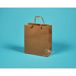 papírové tašky hnědé KAROLÍNA 20x10x23 hnédý recyklovaný kraft 130g