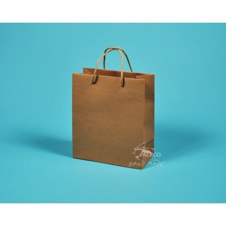 papírová taška KAROLÍNA 20x10x23 hnédý recyklovaný