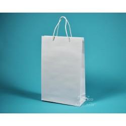 papírová taška BÁRA 25x9x37 bílá