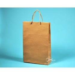 papírová taška BÁRA 25x9x37 hnědý recyklovaný