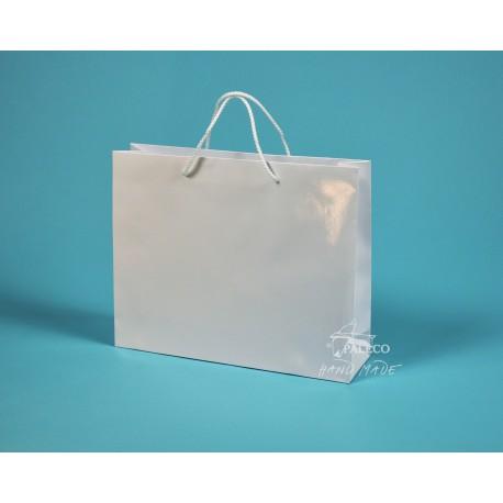 papírová taška RENATA 32x8x25 bílá lamino