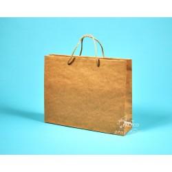 papírová taška RENATA 32x8x25 hnědý recyklovaný