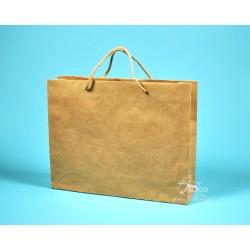 papírová taška PAVLÍNA 38x10x30 hnědý recyklovaný