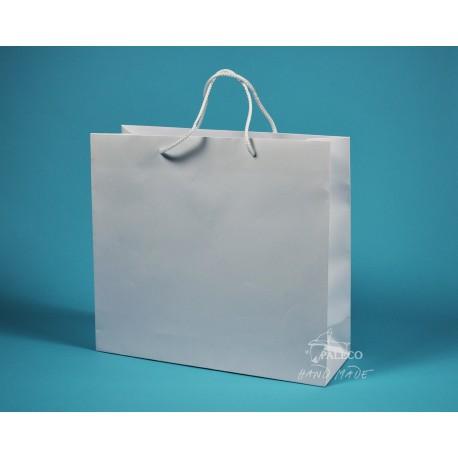 papírová taška KVIDO 36x12x33 bílá lamino