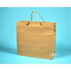 papírová taška hnědá KVIDO 36x12x33 hnědý rýhovaný sulfát 110g