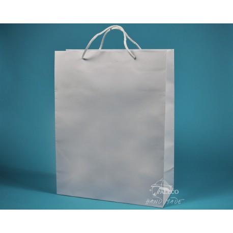 papírová taška TOM 34x15x44 bílá