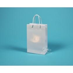 papírová taška JUSTÝNA 16x8x24  bílá lamino