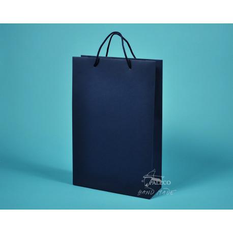 papírová taška BÁRA 25x9x37 modrý TWILL