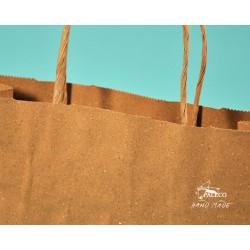 papírové tašky Trávové 24x10x31 hnědý trávový papír