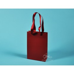 Papírové tašky JUSTÝNA 16x8x24 křída 170g, stuha, ML