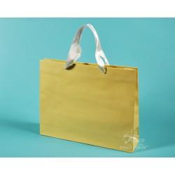 papírové tašky PAVLÍNA 38x10x30 krémové, bílá stuha
