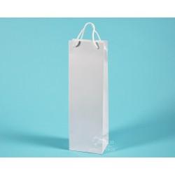 papírové tašky ALEX (na víno) 11,5x9x37 matná křída 170g matné lamino